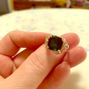 Jewelry - Green Tourmaline and Sterling Ring